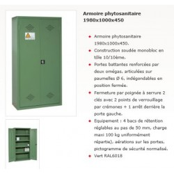 ARMOIRE PHYTOSANITAIRE 1980x1000x450