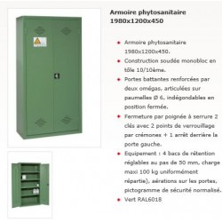 ARMOIRE PHYTOSANITAIRE 1980x1200x450
