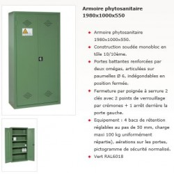 ARMOIRE PHYTOSANITAIRE1980x1000x550