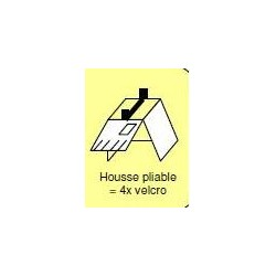 supplement pour housse repliable  x4 velcro