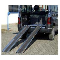 rail alu +adhesif antid Lxl:2000x150 charge 190 Kg Deniv 300-365 mm- la paire