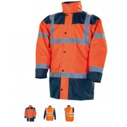 PARKA Haute visibilite ORANGE 4 EN 1