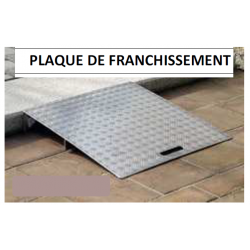 Plaque de passage de trottoirs aluminimum 500x1000 mm charge 200 kg