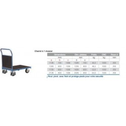Chariot a dossier  charge lourde  1000kg 1128x700x1006