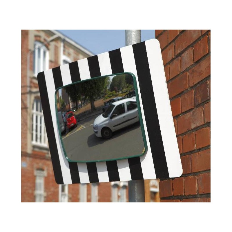 miroir de sortie vehicules panneau blanc pvc 60x45 cm carre 40x30 cm kxproshop. Black Bedroom Furniture Sets. Home Design Ideas