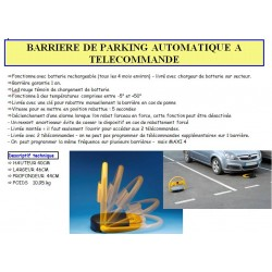 barriere de parking automatique a telecommande  40X46X44 CM 2 telecommandes led-batterie