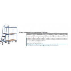 Rayonnage cantilever mobile  1300 simple face