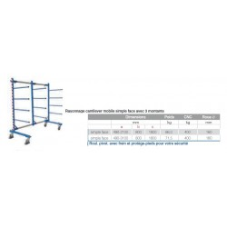 Rayonnage cantilever mobile  2100 double face