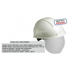 Casque de securite a visiere integree