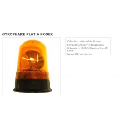 gyrophare plat a poser (lampe H1 non fournie)