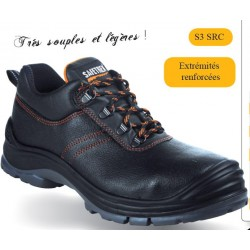 Chaussure basse cuir -emb composite