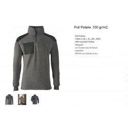 PULL POLAIRE GRIS S S A 3XL