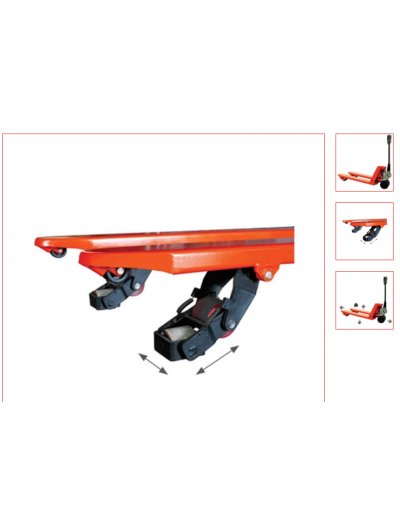 Transpalette 4 directions 1500 kg 1fourches 1150x540 mm