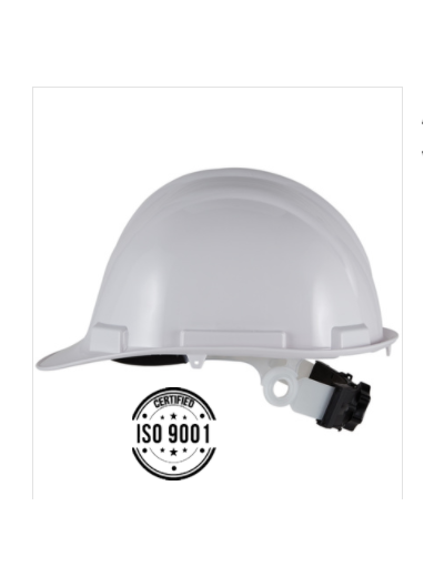 casque de chantier EN ABS 4 points de fixation coiffe textile  HG902