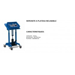 servante d'atelier a plateau inclinable 150 kg 503-405 mm